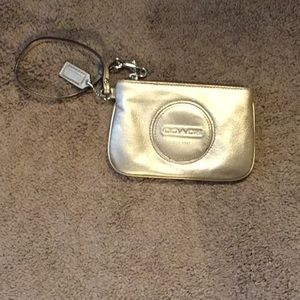 Coach Gold Metallic Makeup Pouch